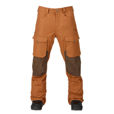burton hellbrook pants true penny mocha waxed