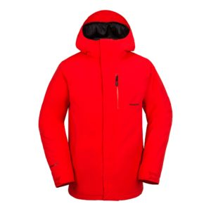 volcom l insulated gore tex jacket red